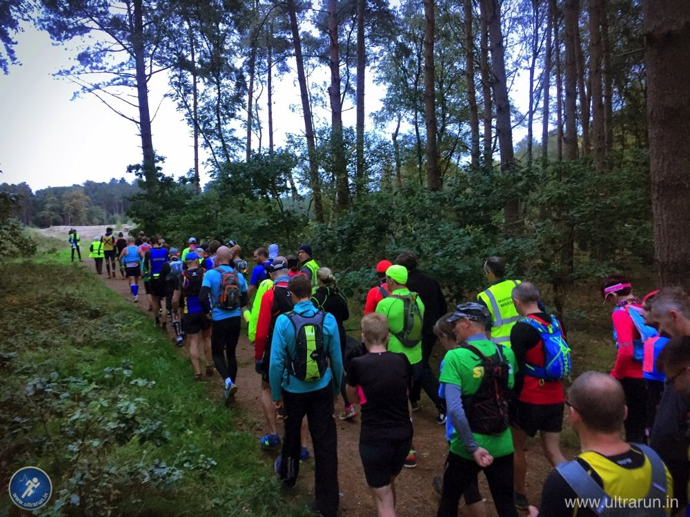 Walking to the start of the 2015 Kings Forest 50km